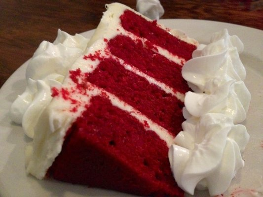 Velvet cake with whipped cream