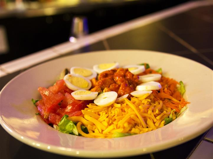 Salad with multiple toppings