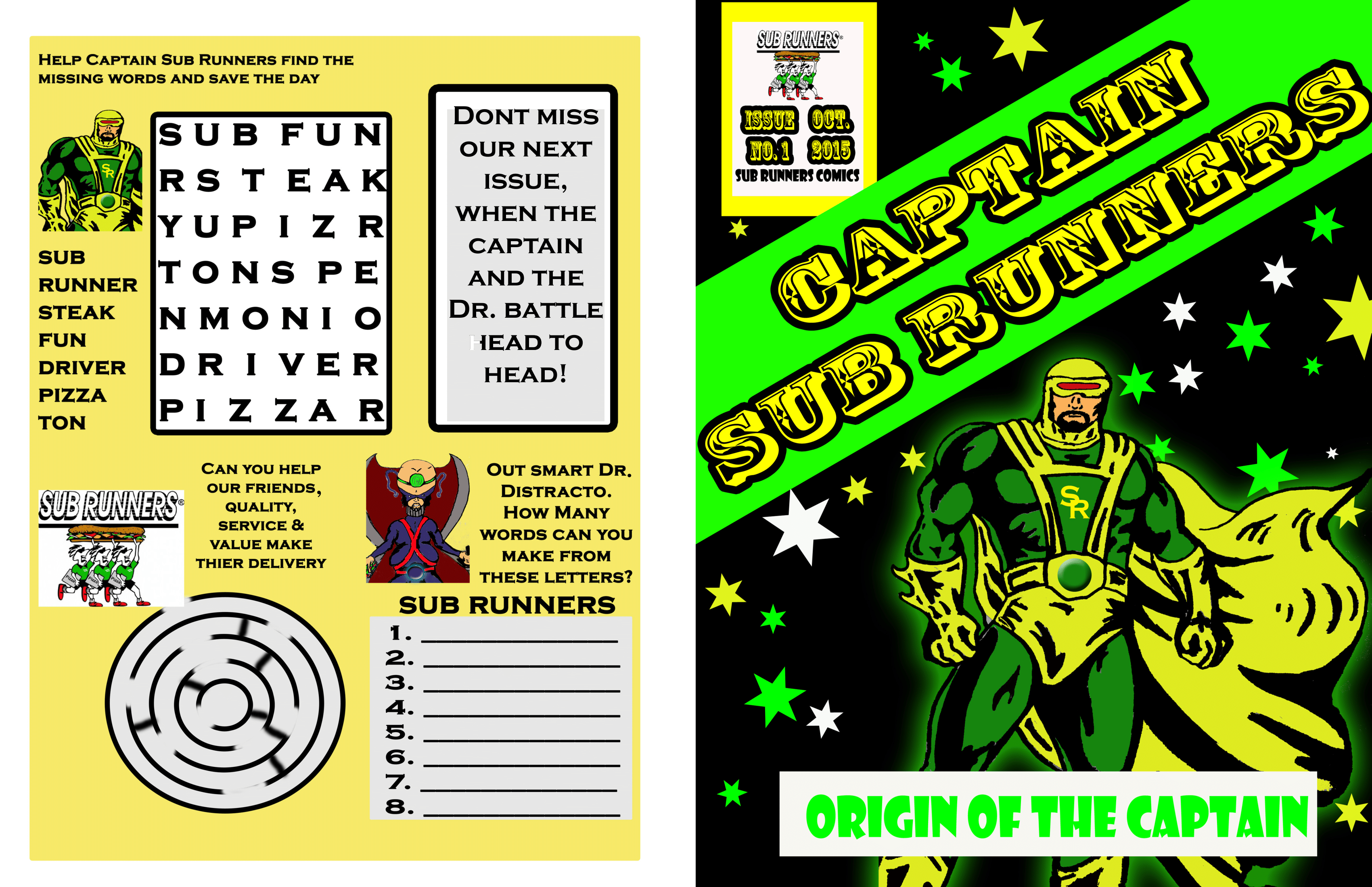 CAPTAIN SUB RUNNERS - Origin of the Captian