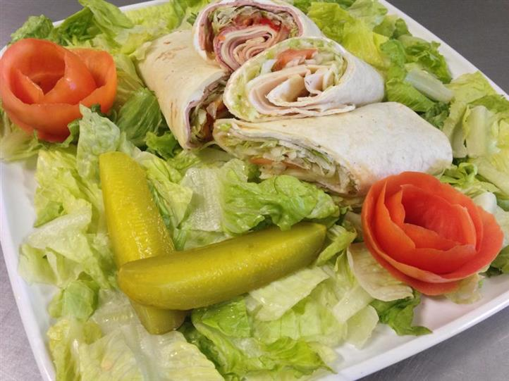 wrap on top of salad