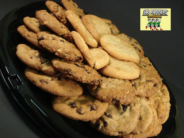 plate of assorted cookies
