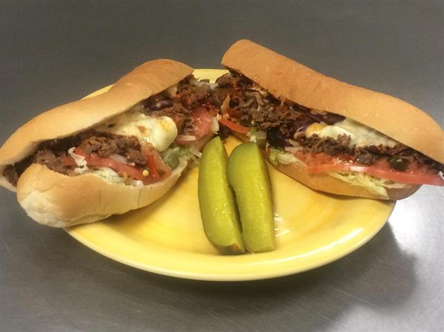 cheesesteak with pickles