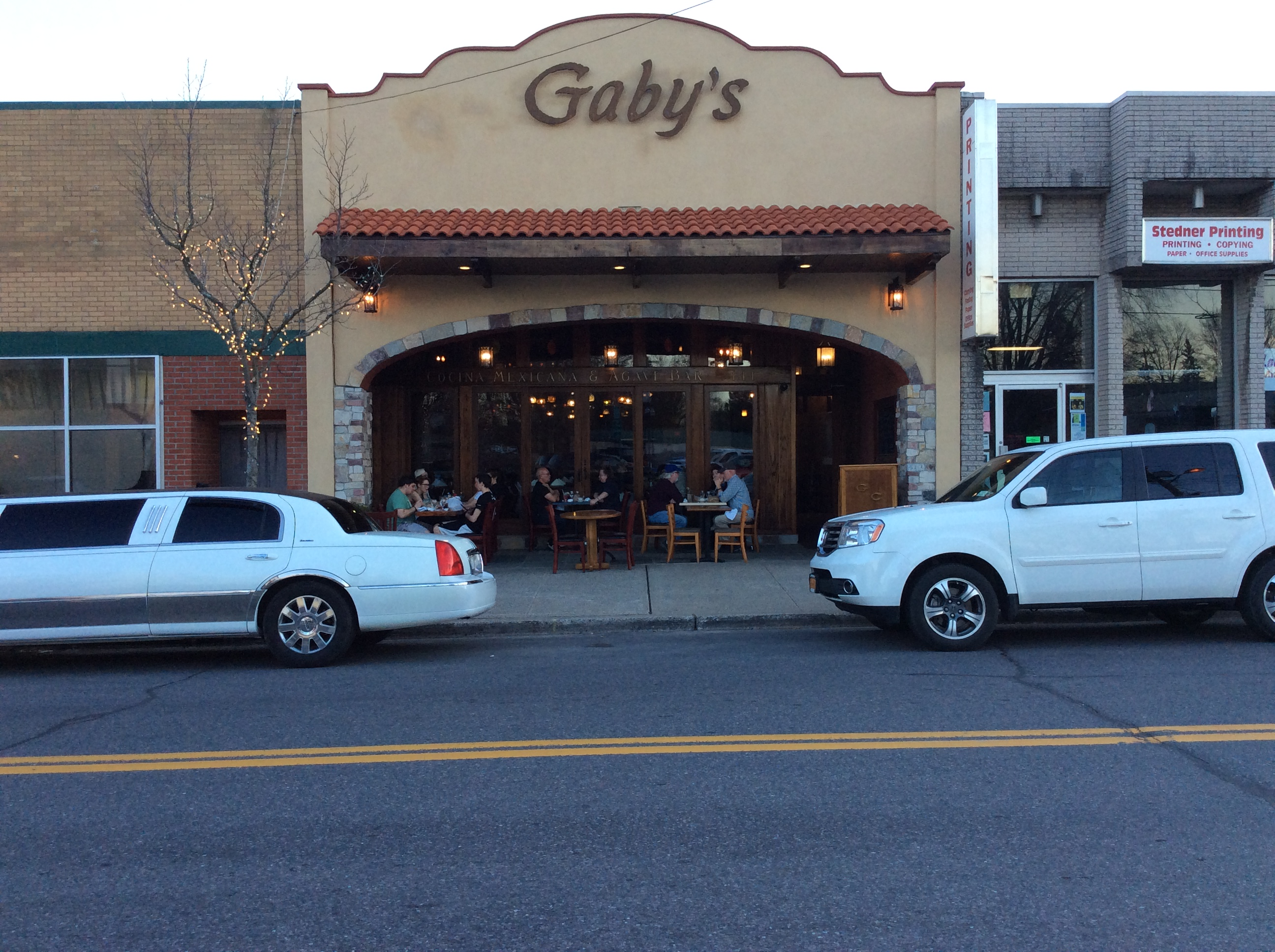 exterior entrance to gabys cafe