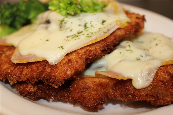 fried chicken cutlets with cheese