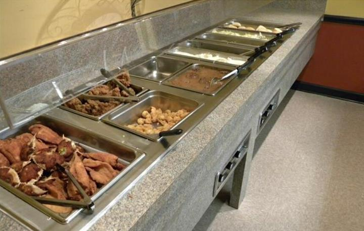 Several buffet trays