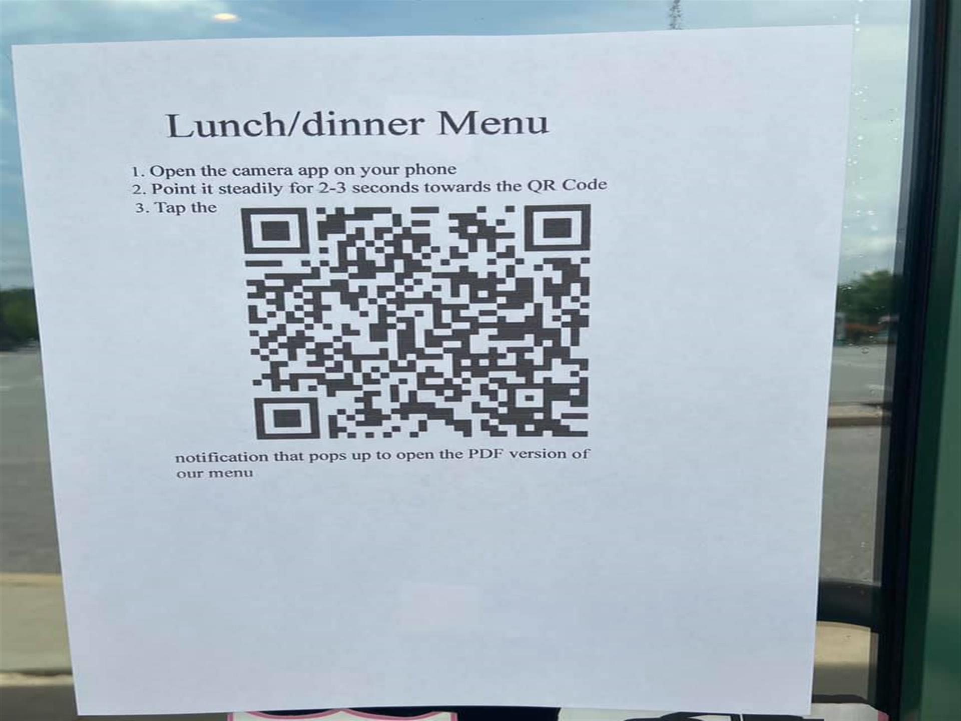 QR Code for our menu