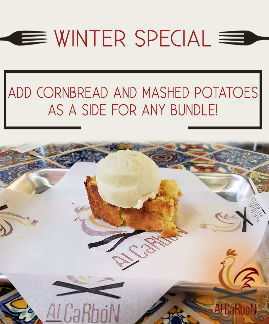 Winter Special - Add Cornbread and Mashed Potatoes as a Side for Any Bundle!