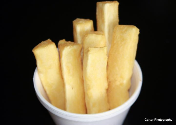 cup of fried yuca