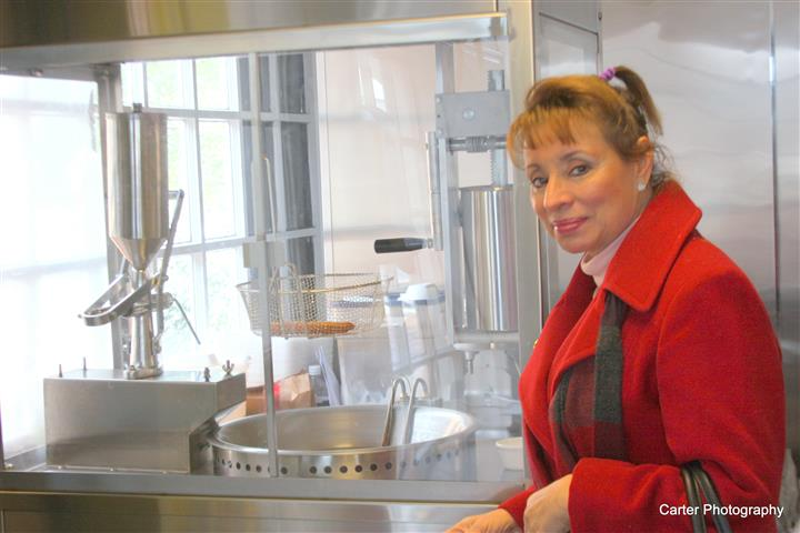 an employee in the kitchen