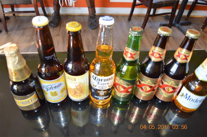 several different types of beer