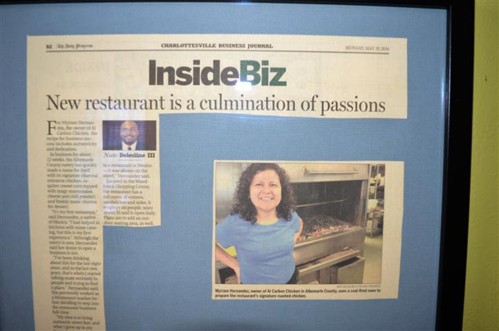 "an ""InsideBiz"" news article about the restaraunt"