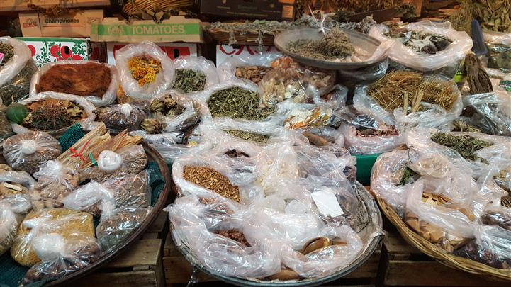 spread of different wrapped spices and foods