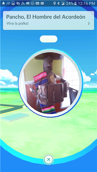 tip jar/music speaker statue on pokemon go