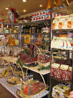 Foods in shooping area on display
