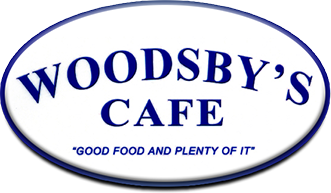 Woodsby's Cafe. Food food and plenty of it.
