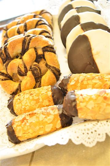various tyles of pastries