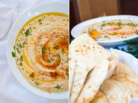 homemade hummus and pita