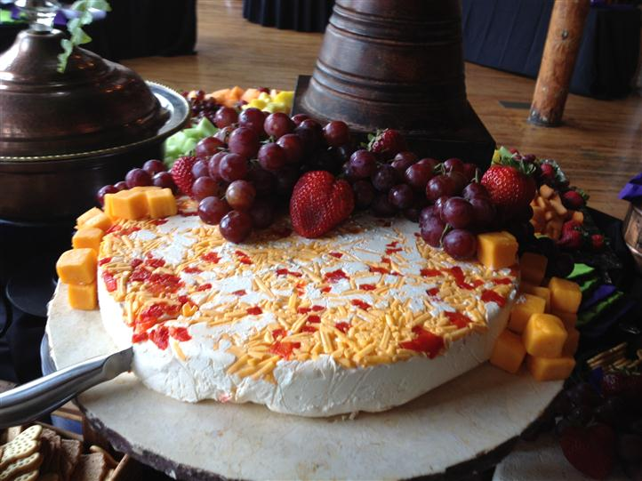 cheese with various fruit