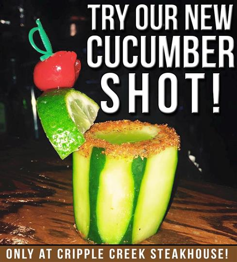 try our cucumber shot