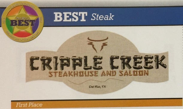 best steak cripple creek steakhouse and saloon del rio, tx first place