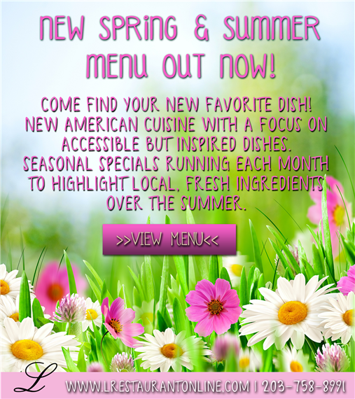 new spring and summer menu out now!