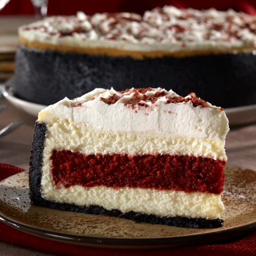 red velvet cake with whipped cream topping