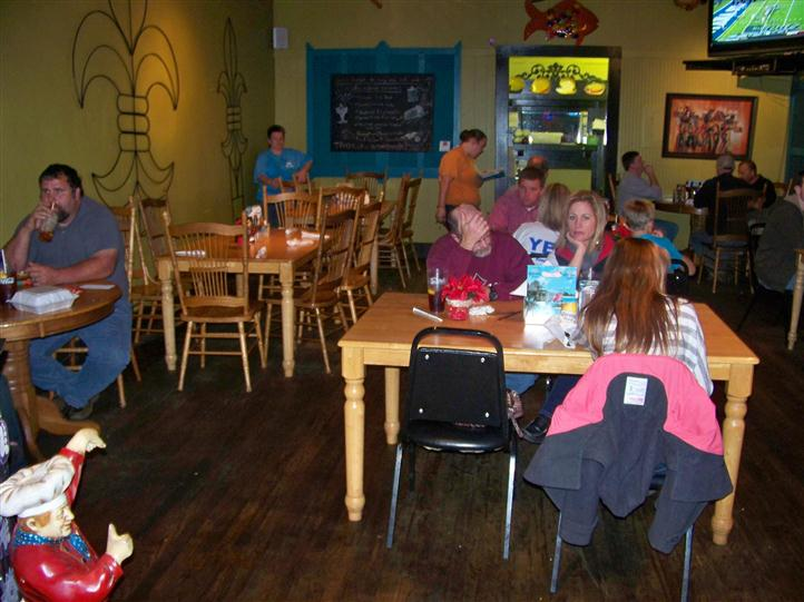 crowded dining area full of customers