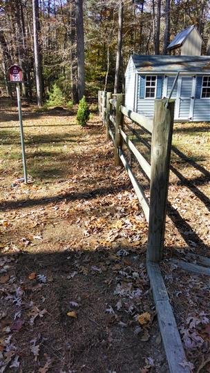 Left side of yard with pipe underground after construction