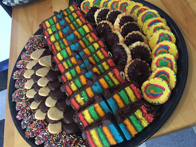 various cookies on a tray