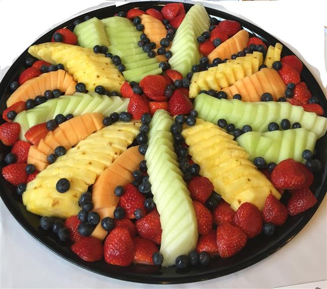 various fruit on a tray