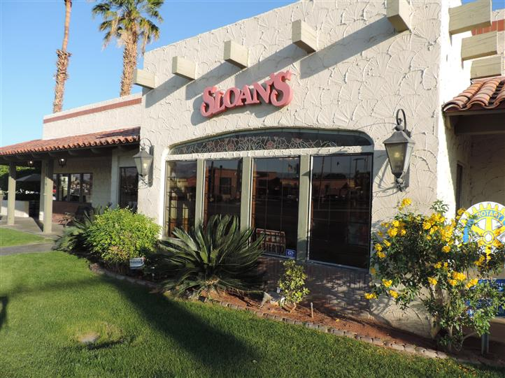 the outside view of sloan's