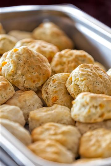 Close-up of cheese Biscuits