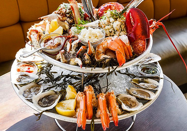 seafood cocktail tower