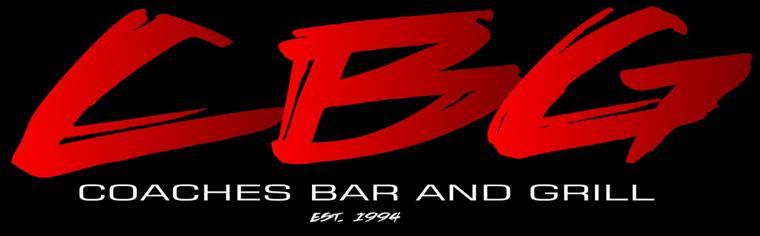 CBG, Coaches Bar and Grill, Established 1994