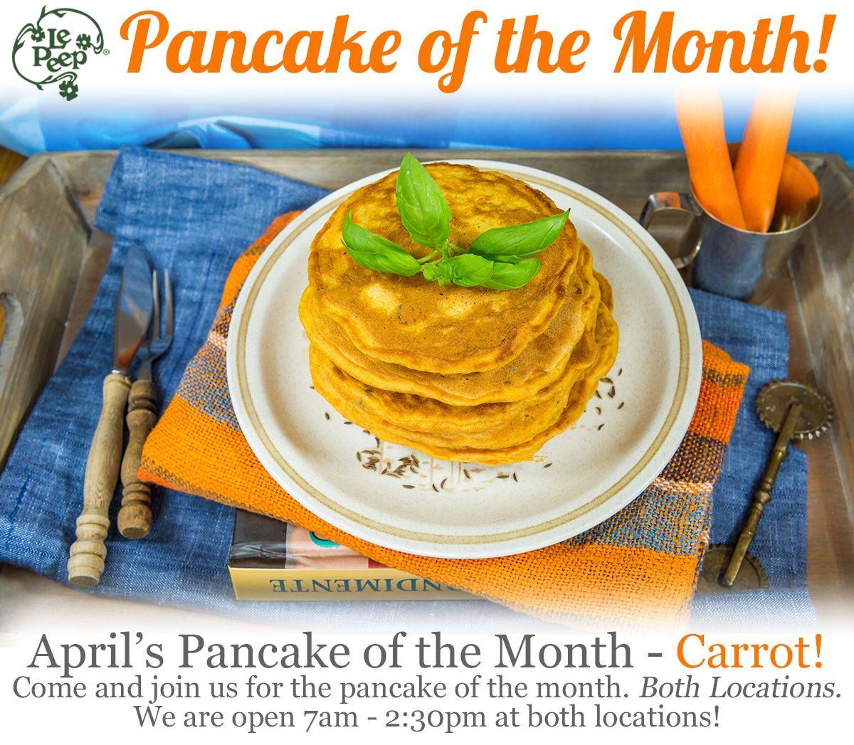 pancake of the month - Carrot!
