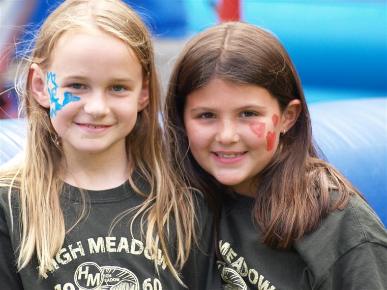two young girls at camp