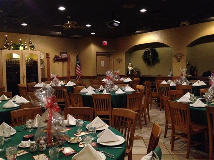 Banquet Room for private parties with the tables ready for service