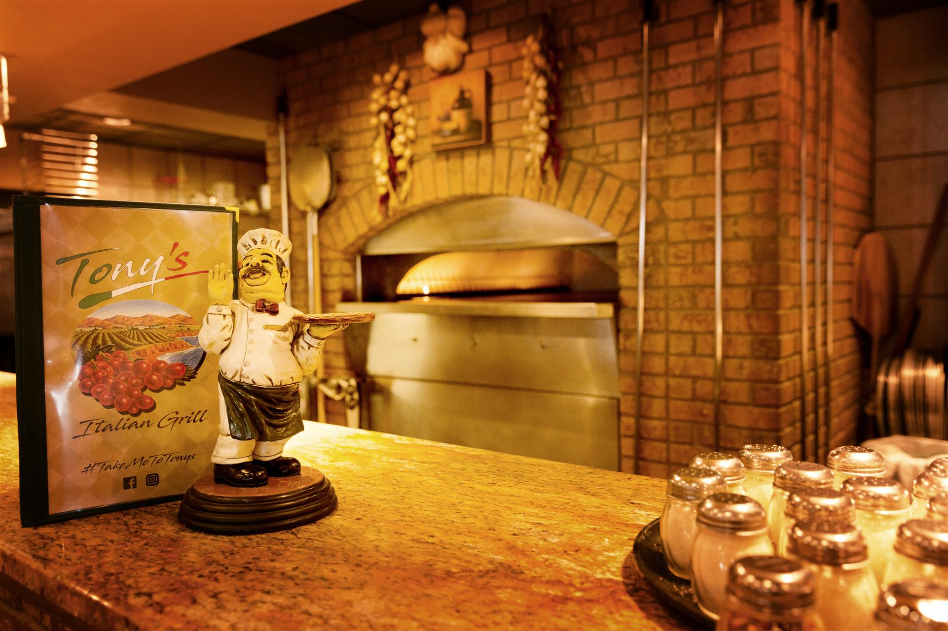 Behind the counter view of the Brick Oven