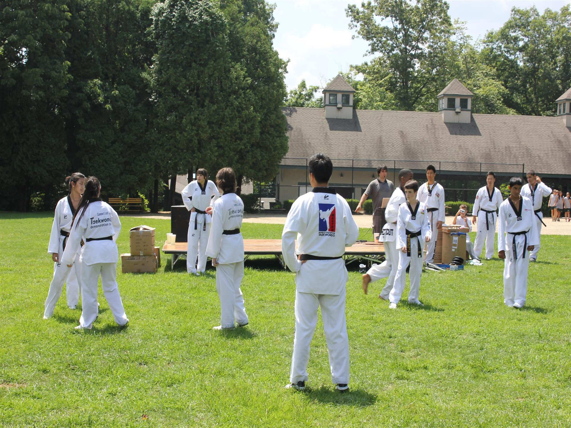 campers doing karate