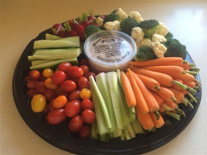 Assorted vegetable hors d'oeuvres