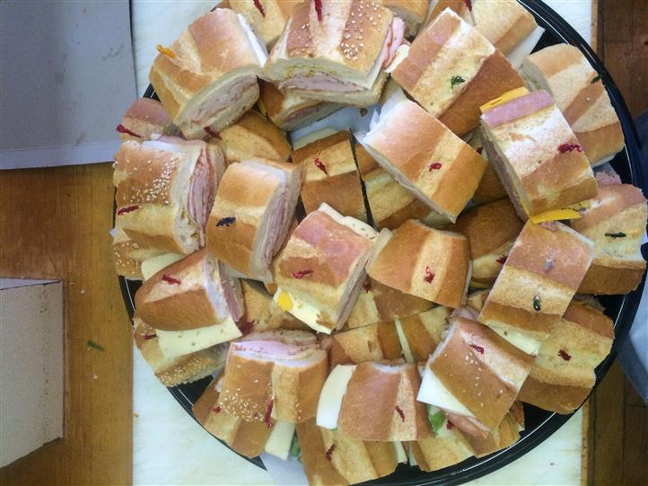 Sandwiches Stacked on each other in a specific manner