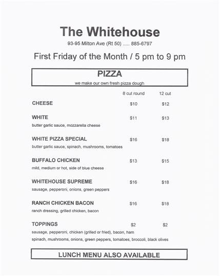---- Whitehouse Pizza Menu - First Friday (large)