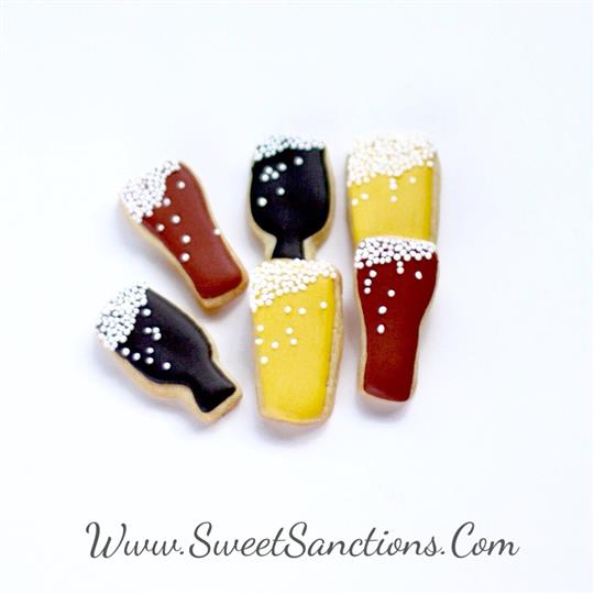 Mini Beer Glass Cookies