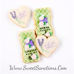 Love of Lavender Wedding Cookies