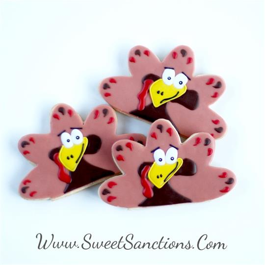 Quirky Turkey Cookies!