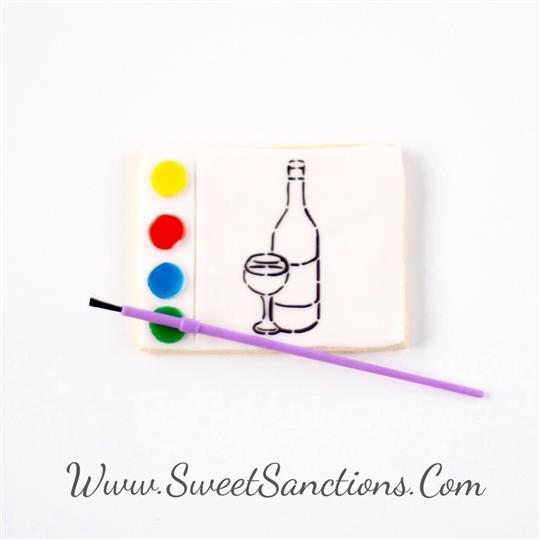 Wine Paint Your Own Cookie