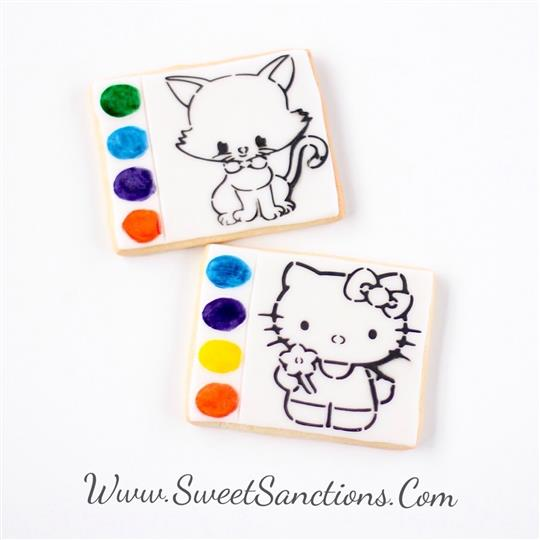 Kitty  Cat Paint Your Own Cookies