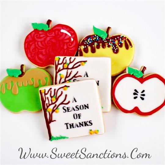 A Season of Thanks Apple Cookie Boxed Gift Set