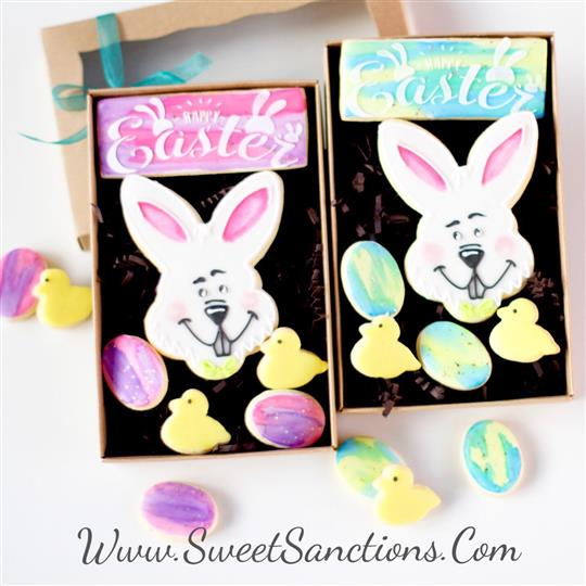 Easter Bunny Cookie Gift Boxed Set
