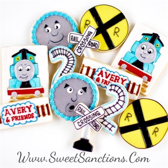 Birthday Train Thomas Cookie Set